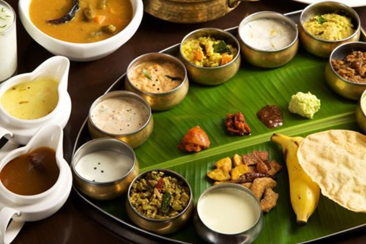 Typical Kerala Vegetarian Meals