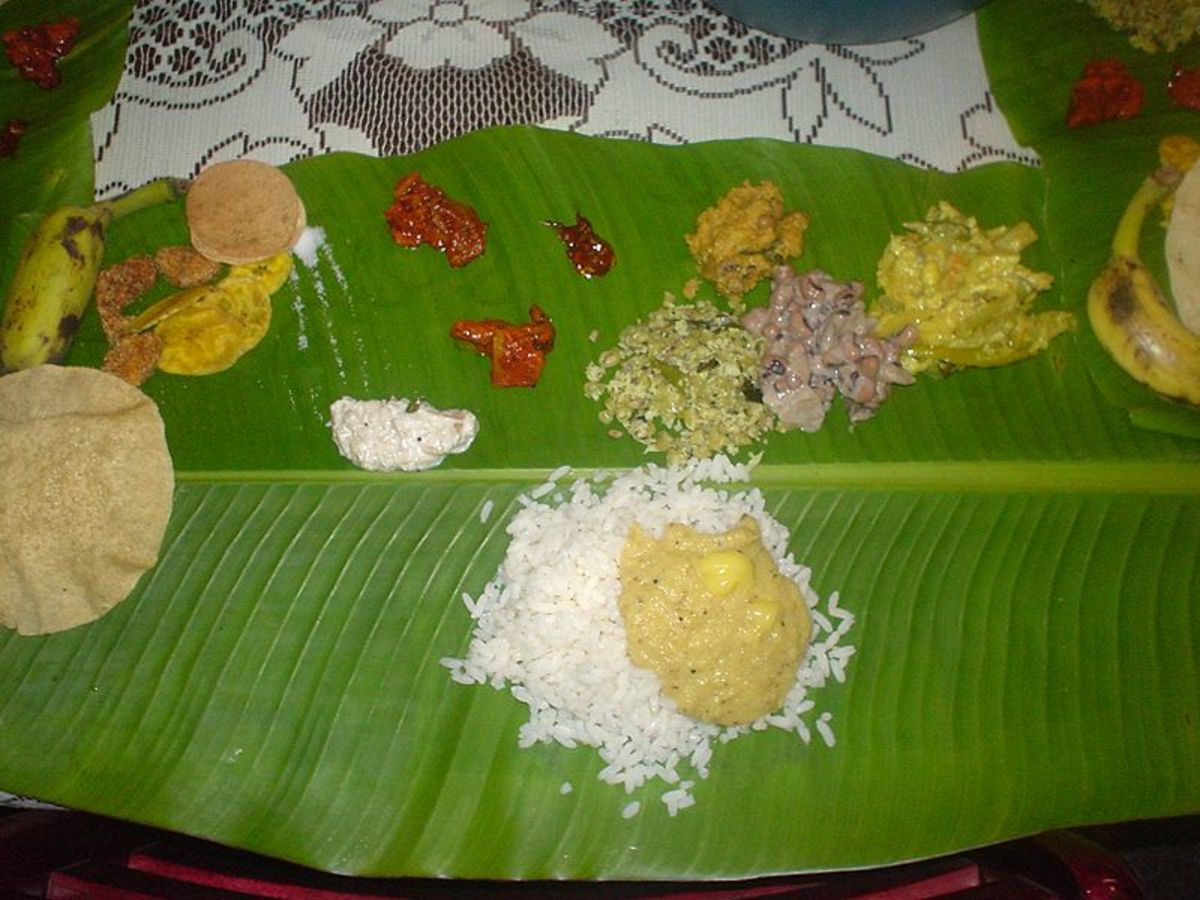 Traditional Kerala Sadhya (Feast)
