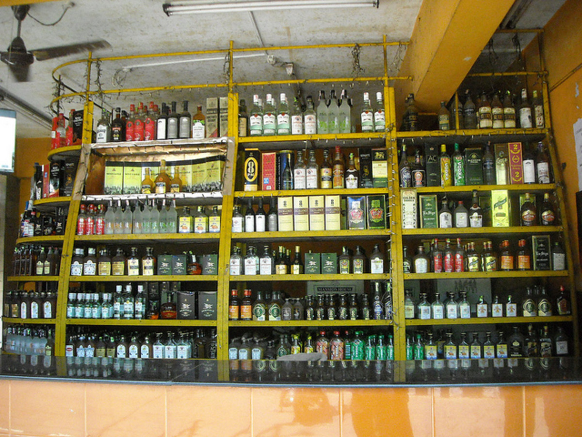 A Brandy Shop (All kinds of liquors available here at cheap price)