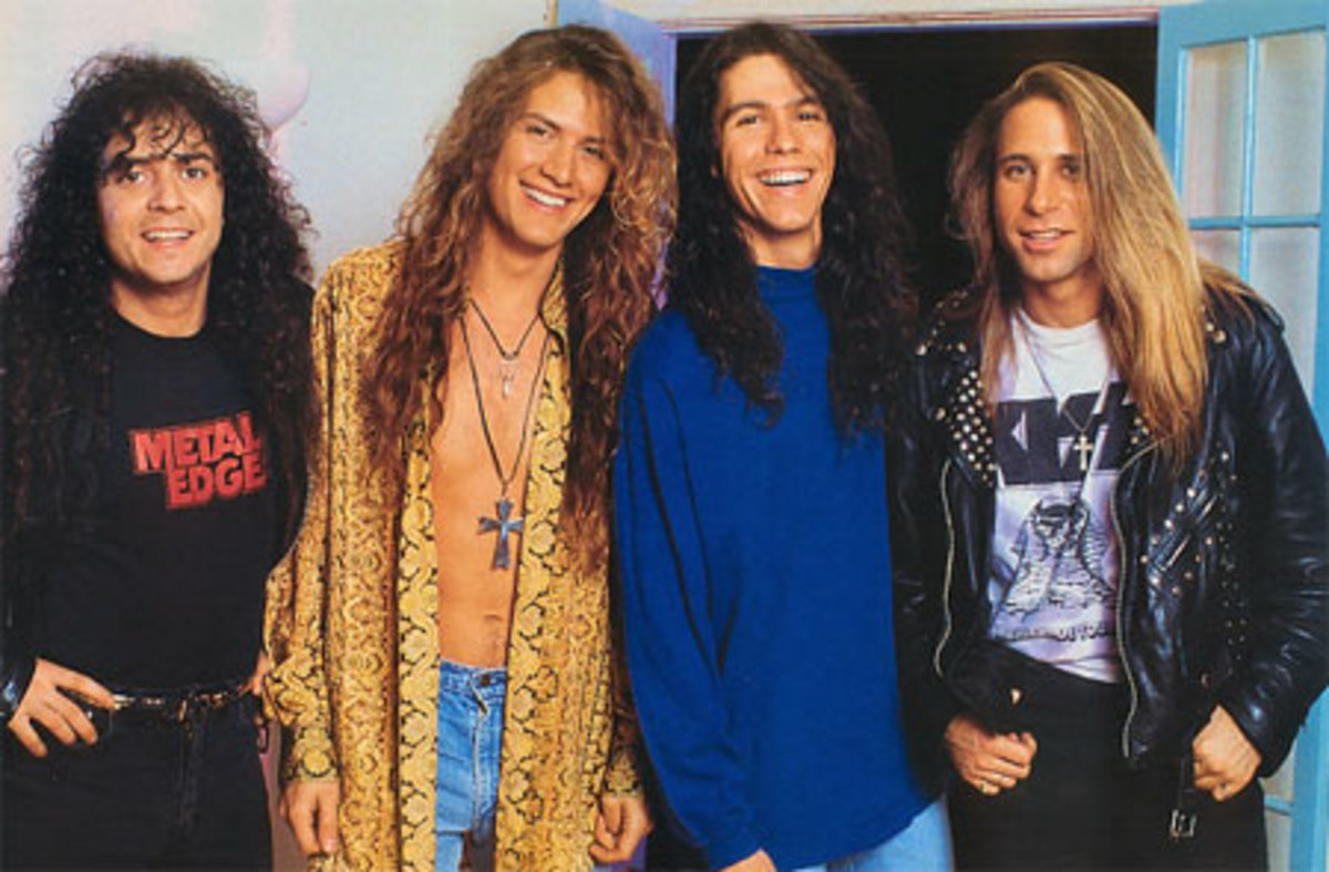 Slaughter L-R: Tim Kelly (gtr) Blas Elias (dr), Mark Slaughter (vox), Dana Strum (bass)