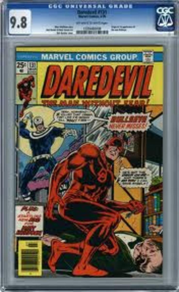 A nice graded near mint copy of Dardevil # 131