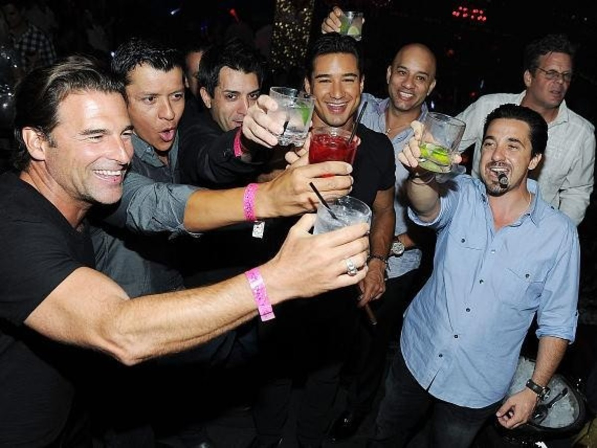 A Toast At Mario Lopez's Bachelor Party at Tao