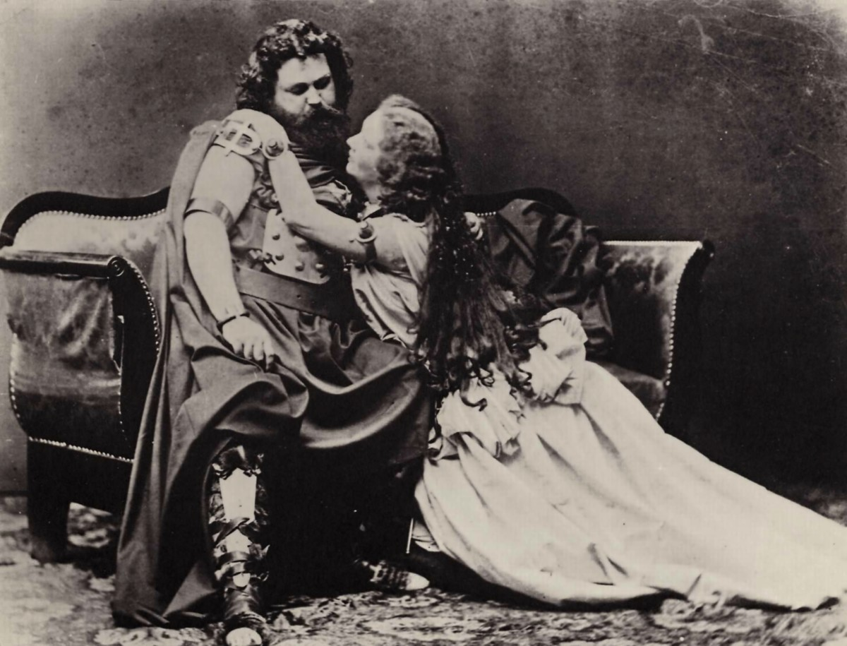 Ludwig and Malvine Schnorr von Carolsfeld in costume for Tristan and Isolde