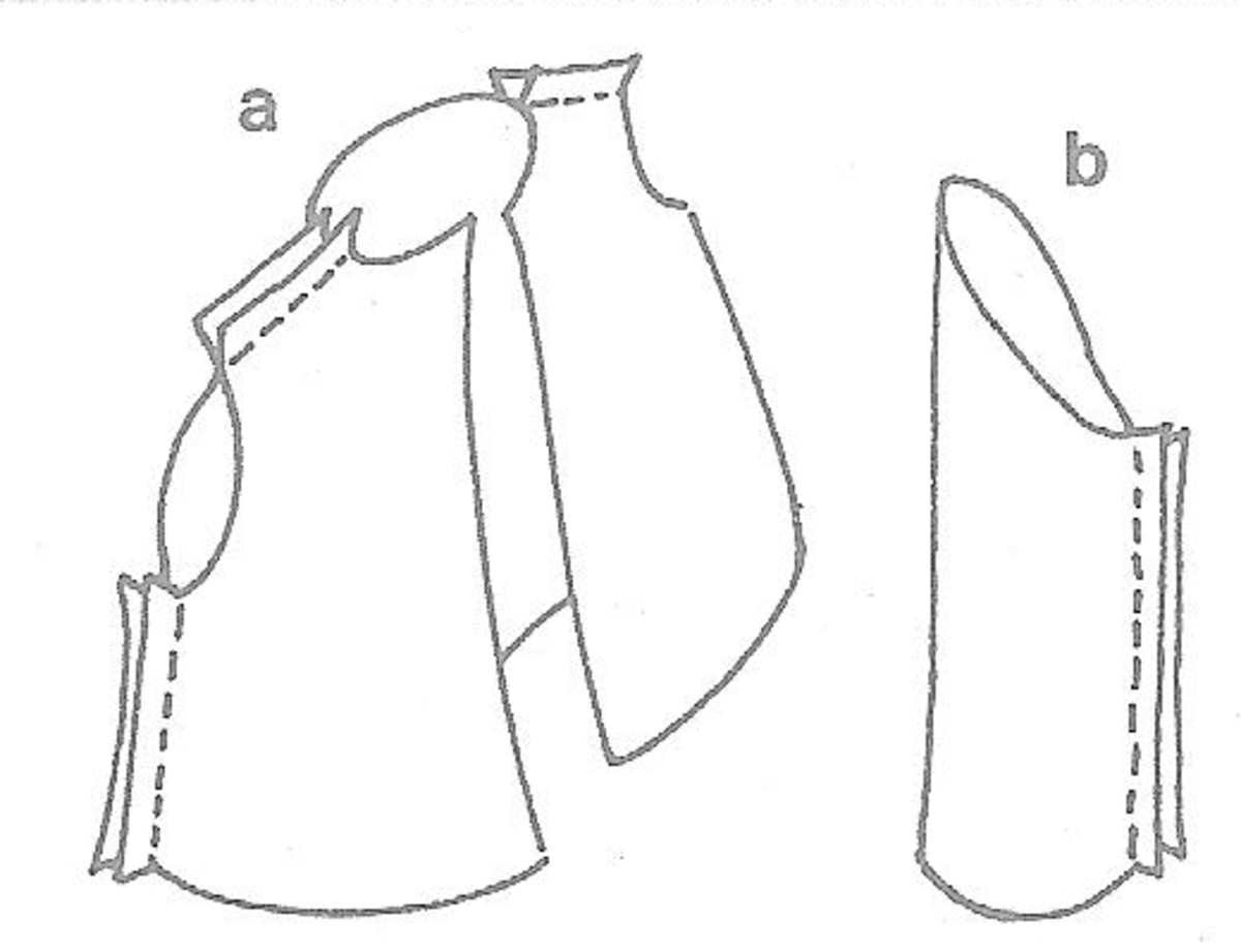 Figure 3a & Figure 3b - Making the Shirt