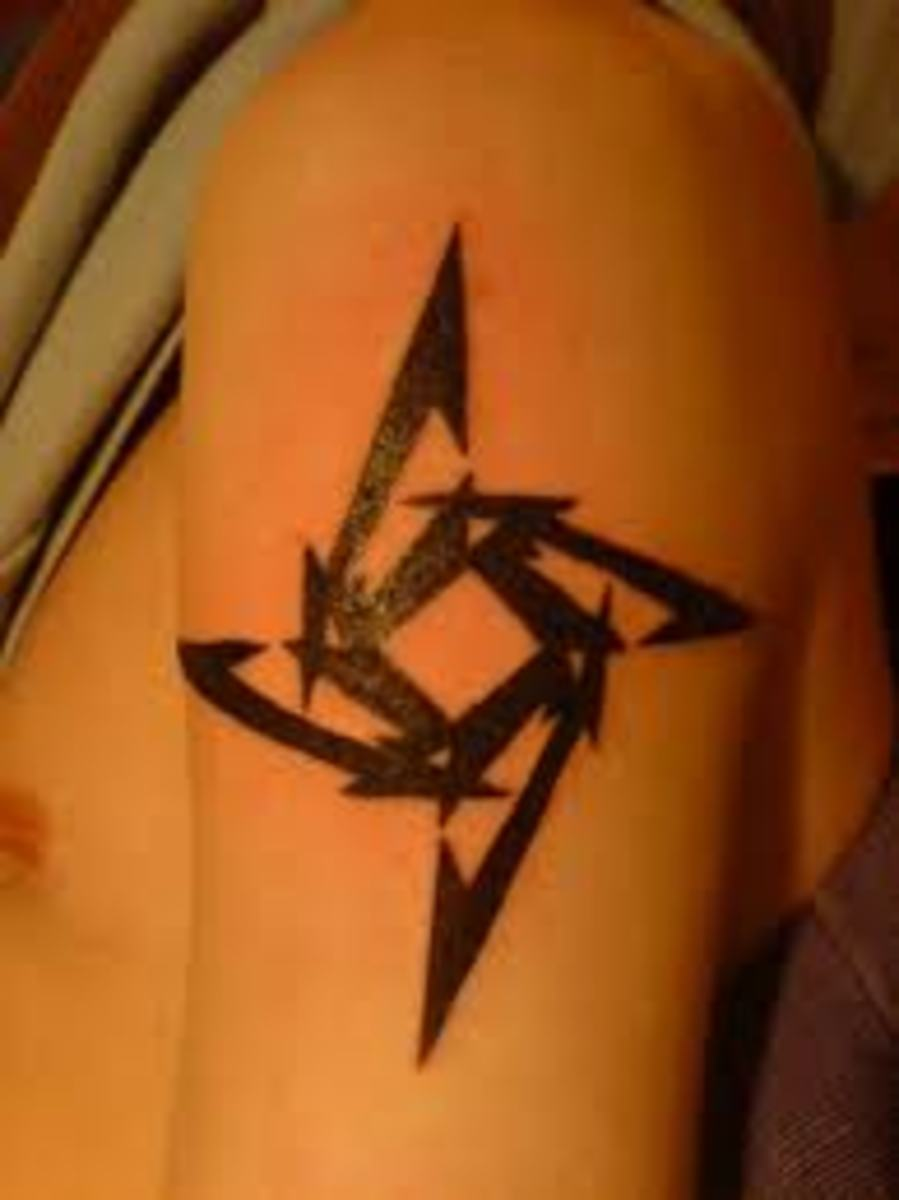 Ninja Star Tattoos And Designs-Ninja Star Tattoo Meanings And Ideas-Ninja Star Tattoo Pictures