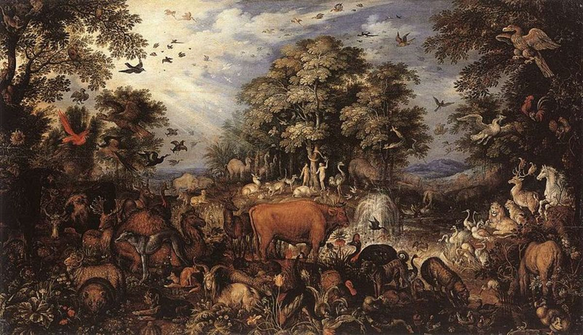 Savery's depiction of 1626 with Dodo in the lower right corner