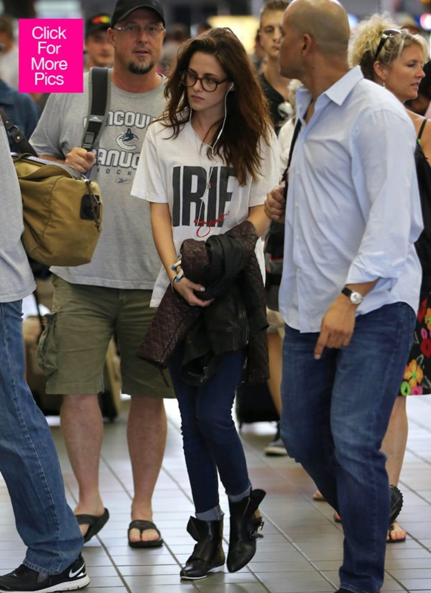 First images of Kristen Stewart arriving at the airport for TIFF in September 2012.