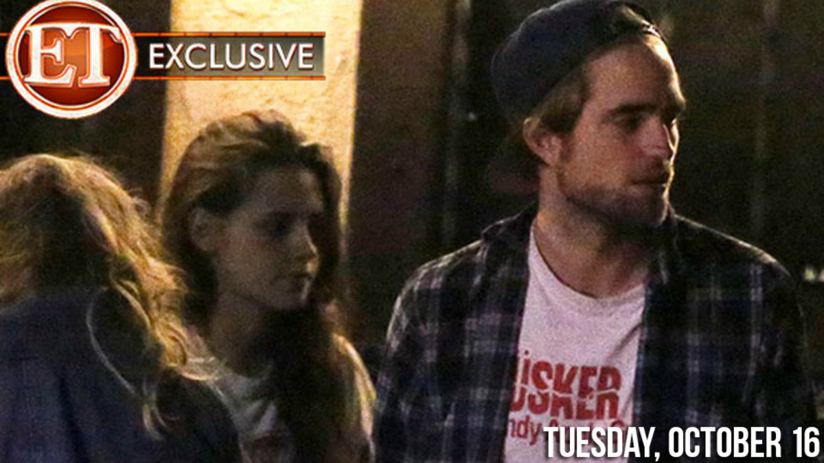 October 2012 - Robert Pattinson and Kristen Stewart Caught in this Reunion Image, October 2012.