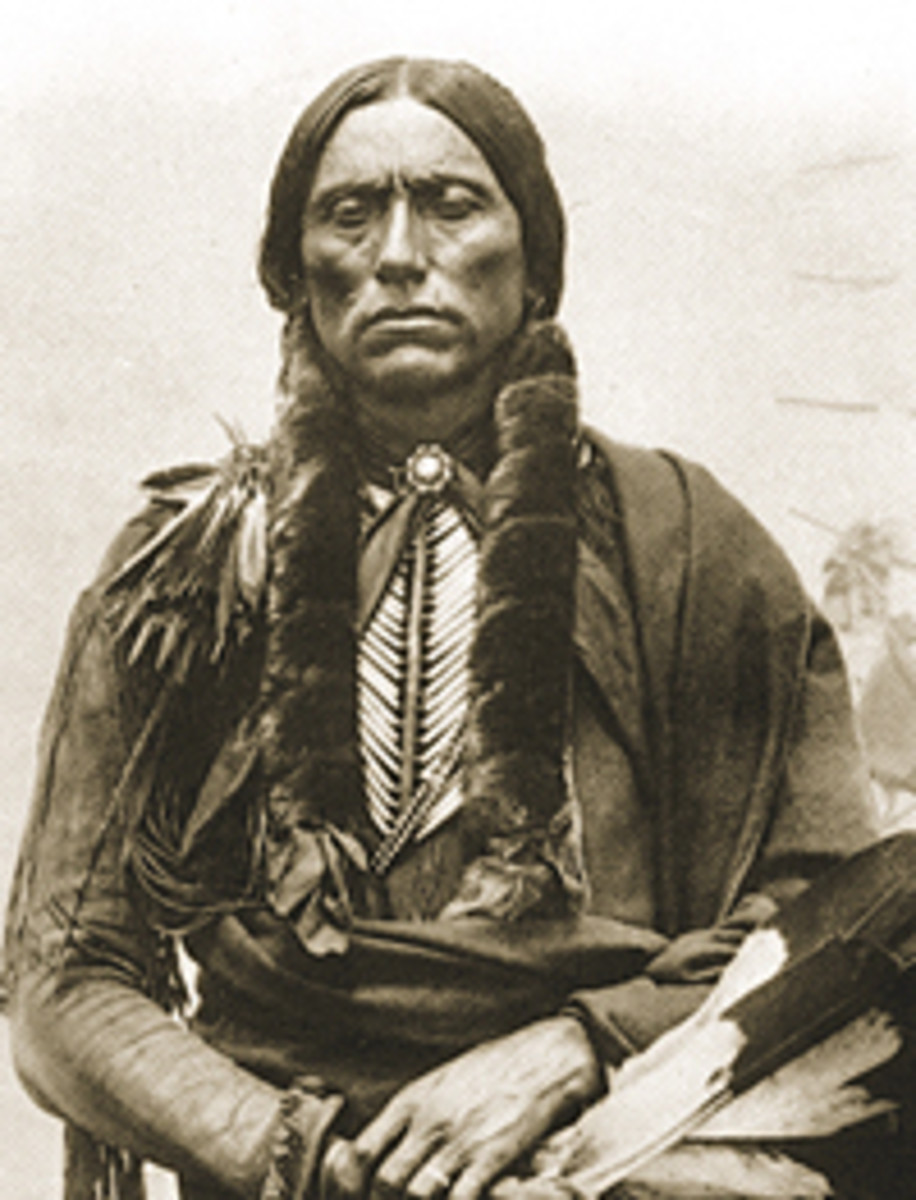 an imposing figure, Quanah was often photographed