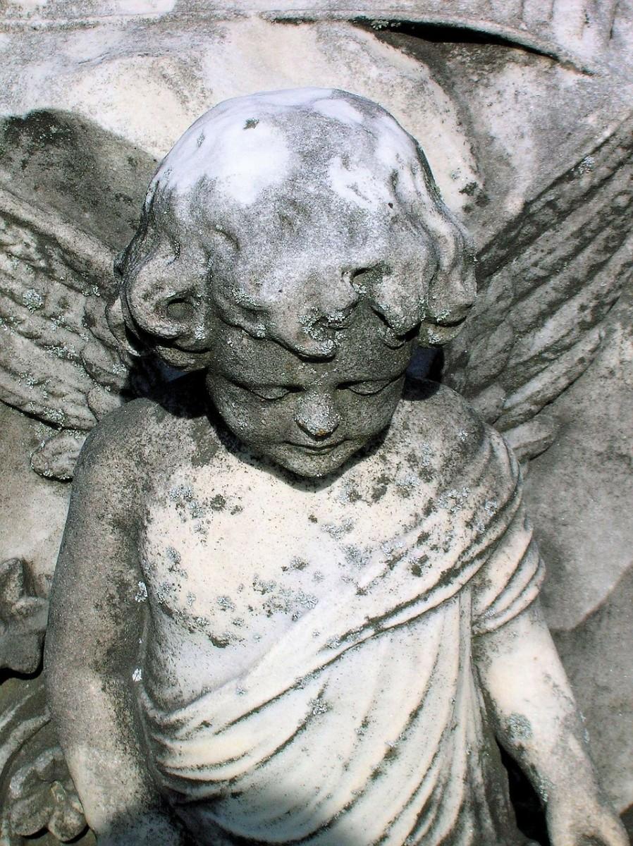An angel tombstone