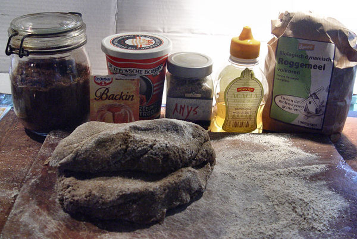 The final dough and the used ingredients in the back. I didn't even spell the word anise right.