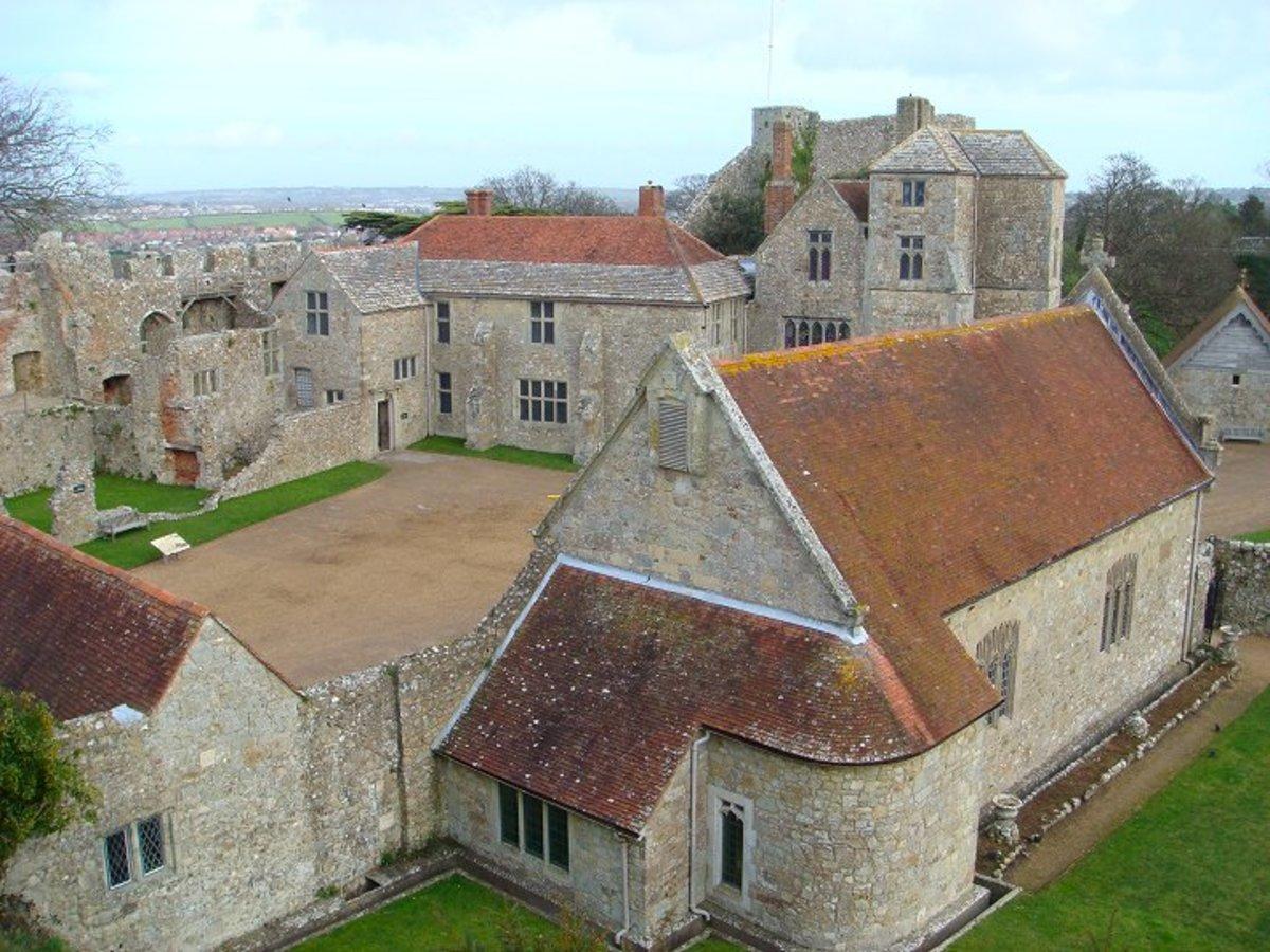 Rooftop close-up of Carisbrooke Castle