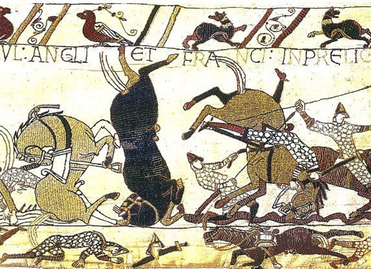 Chaos on Caldbec Hill, known to the Normans as 'Sanguelac' (Senlac) Lake of blood - Both Williams survived the carnage intact