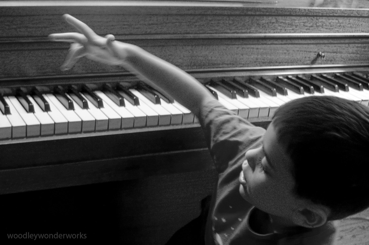 Young children love exploring the piano