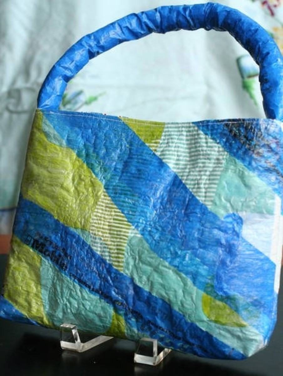 Reusable bag made of grocery bags