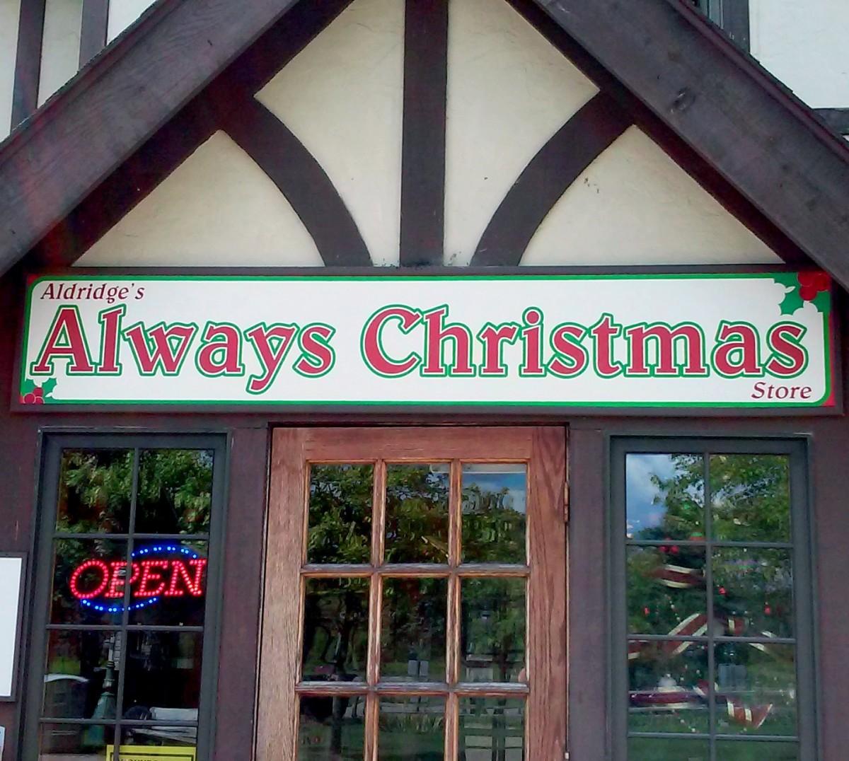 Always Christmas of Canterbury Village in Lake Orion, Michigan.