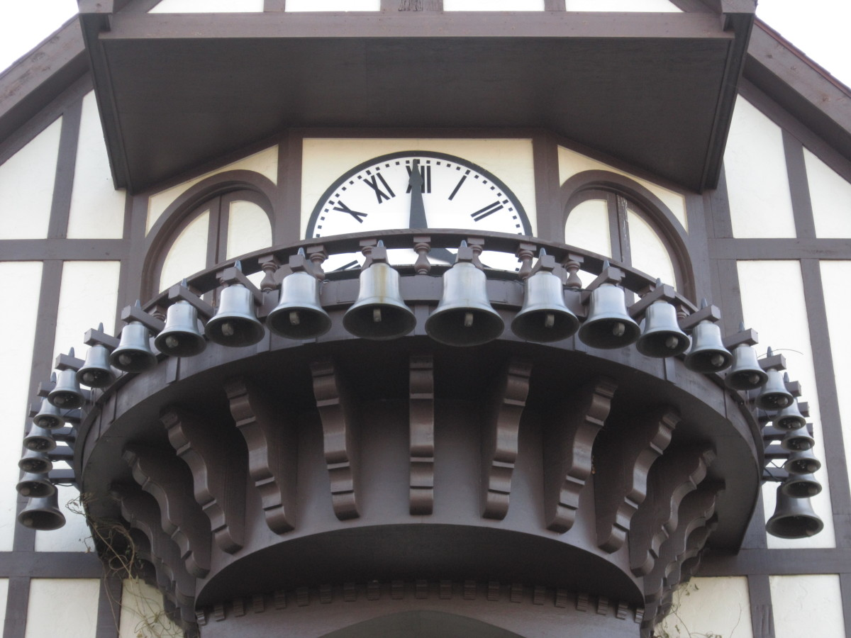 The clock tower at Canterbury Village.