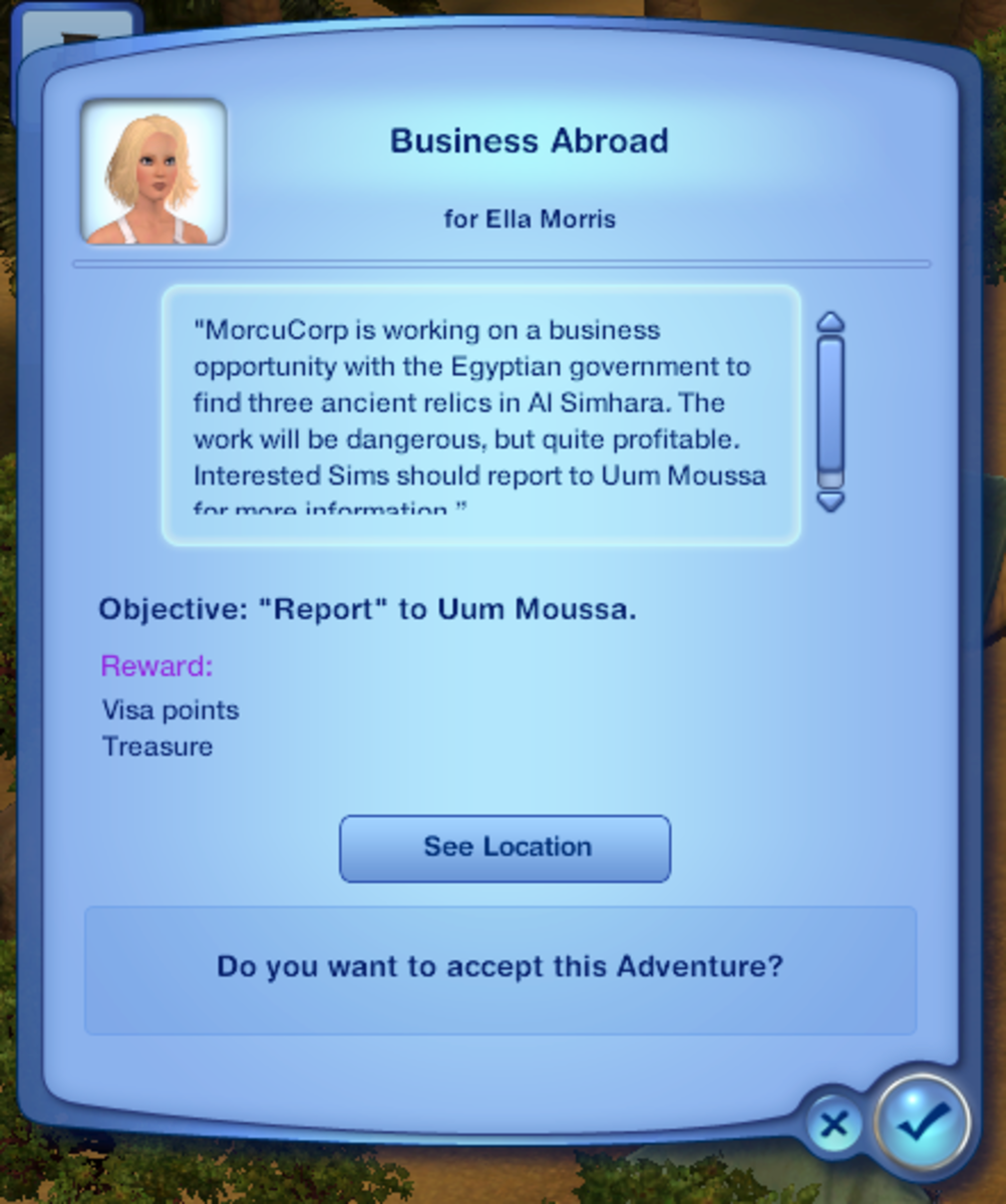 Opening adventure mission: Business Abroad