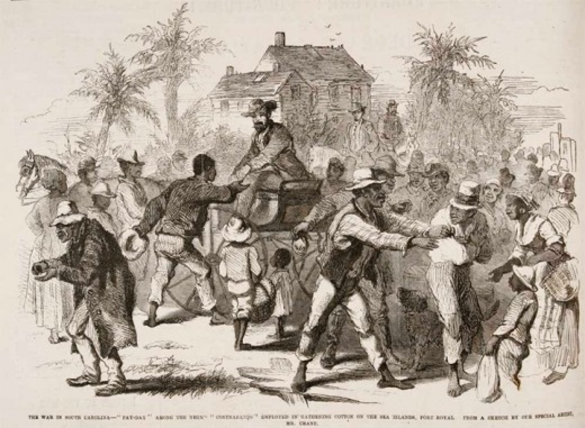 Disbursement of pay to freedmen in Port Royal, SC