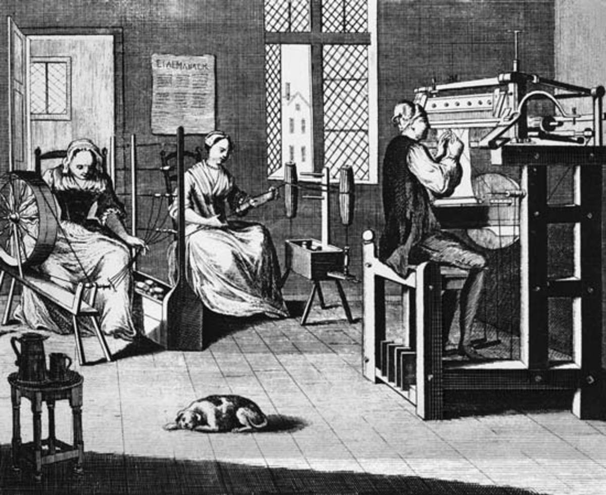 Before factories, manufacturing was done in home workshops.