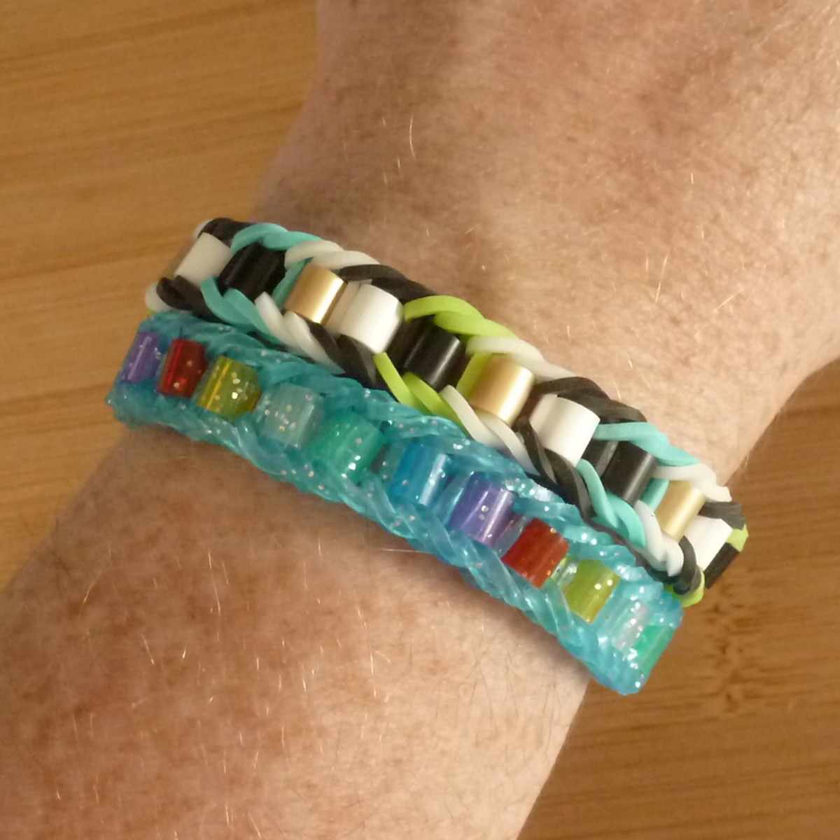 You can also combine perler beads with loom band bracelets