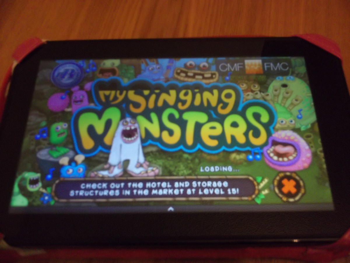 My Singing Monsters loading on the screen.