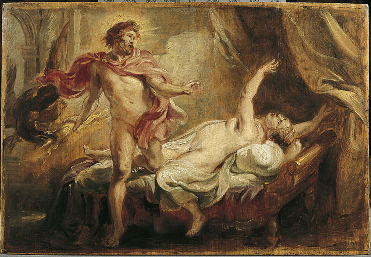 Death of Semele by Rubens, painted before 1640.