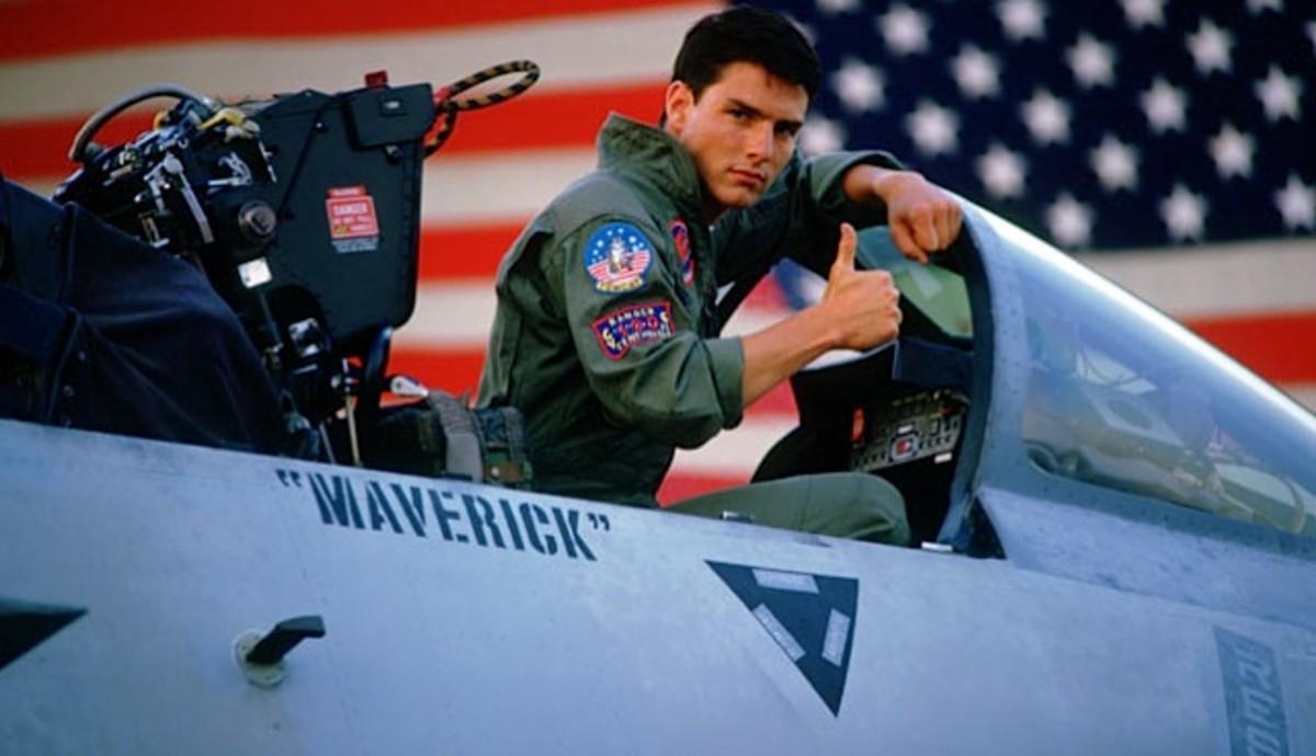 Tom Cruise as Maverick in Top Gun (1986)