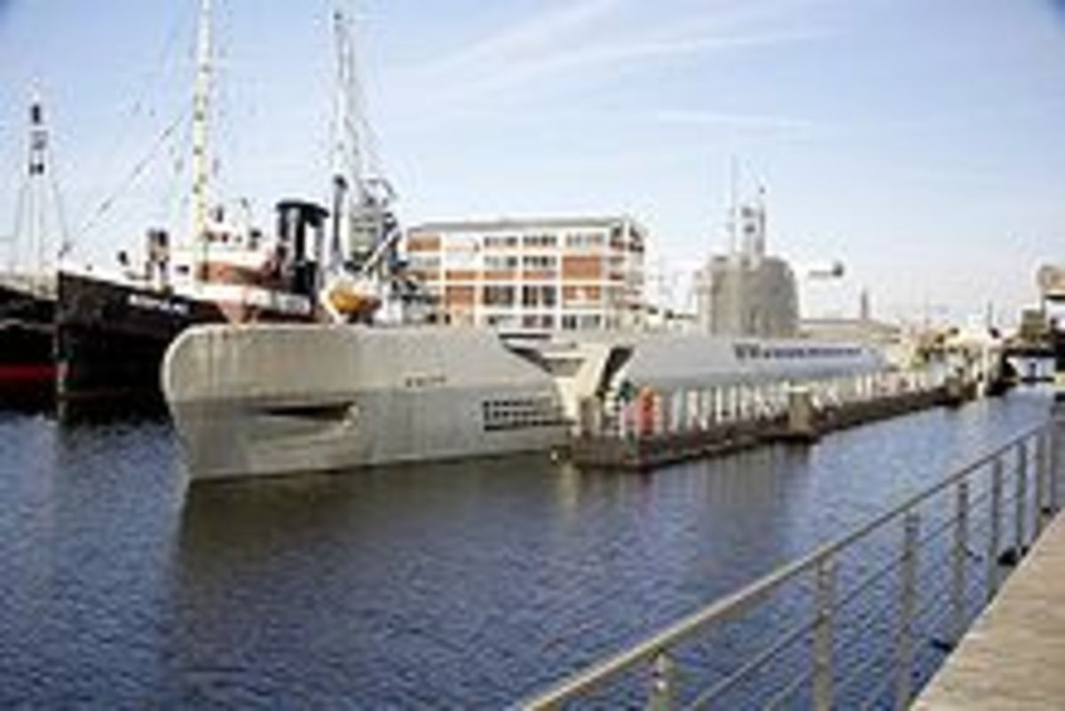 The Germans had created over 100 super submarines (XXI u-boats) as big as freighters, that were faster, more silent and far more sophisticated than any sub the Allies had.