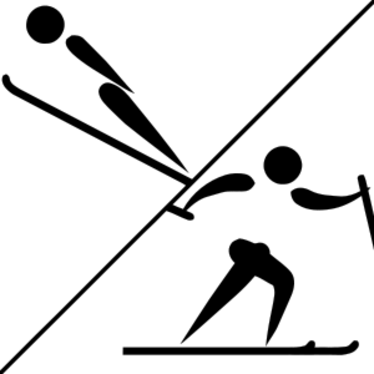 Nordic combined pictogram