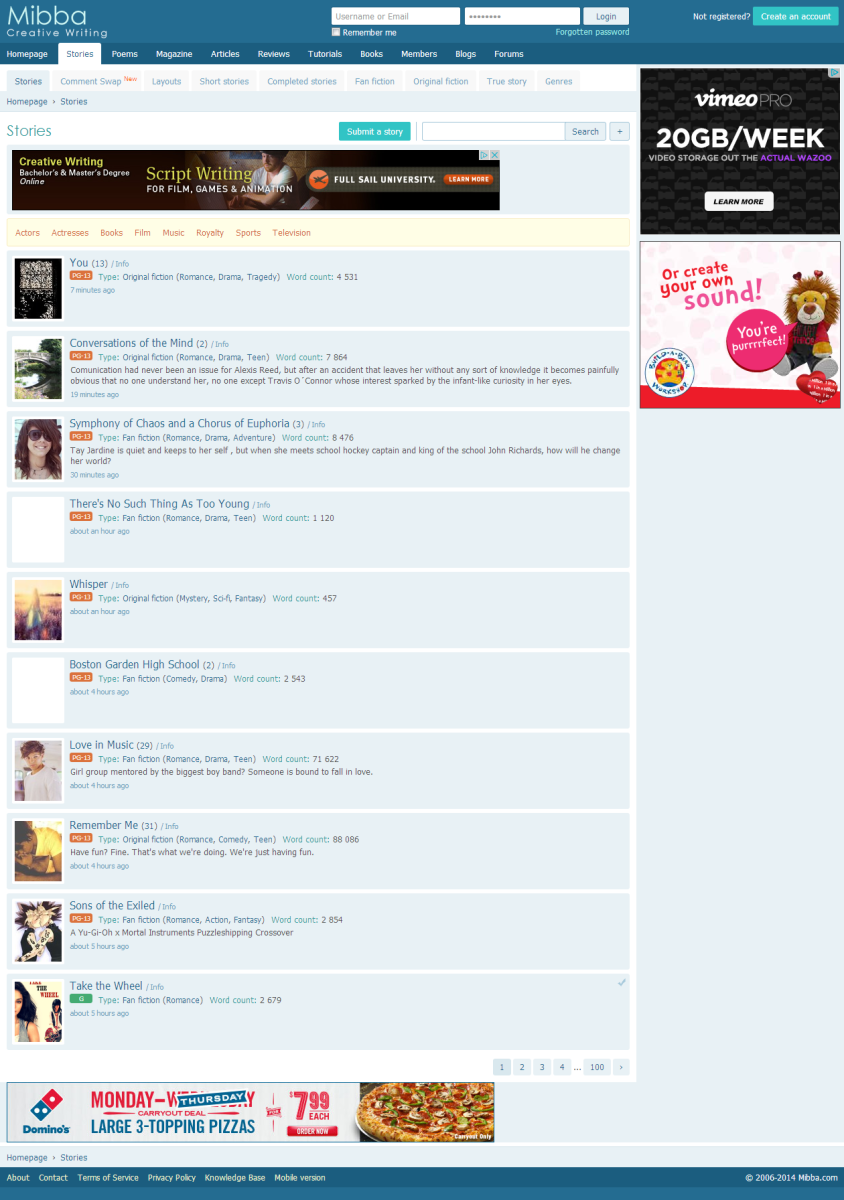Creative writing websites like wattpad fanfiction