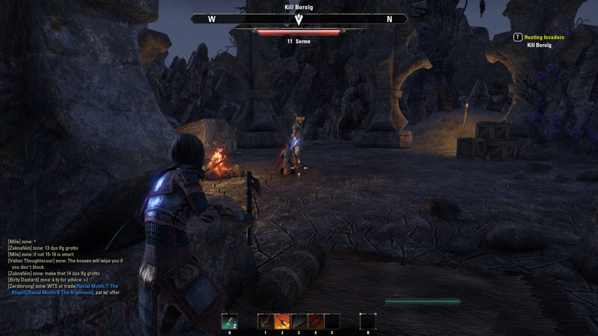 Hunting Invaders in Lukiul Uxith, a swampy region in The Elder Scrolls Online.