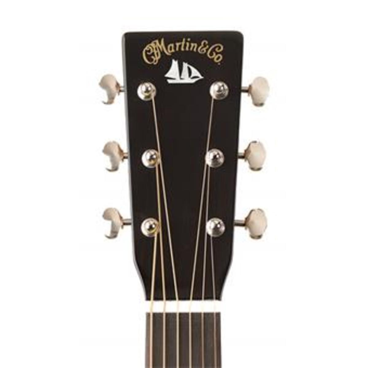 The Unique head stock of the Martin D-18 David Crosby