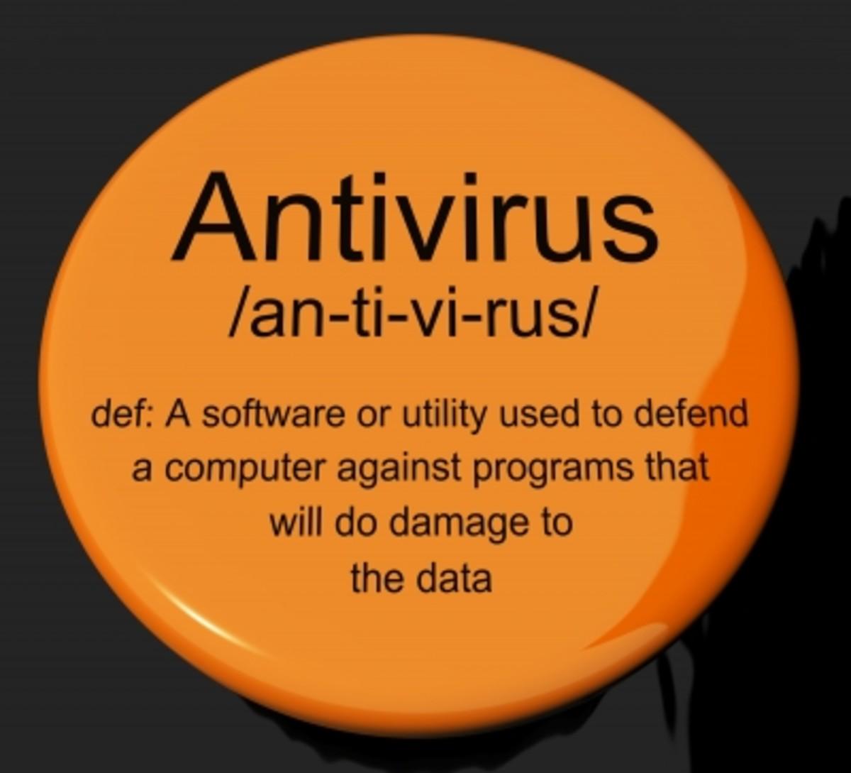 An antivirus button
