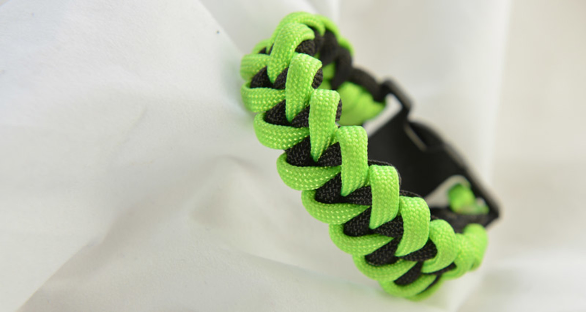 Shark jawbone paracord bracelet instructions