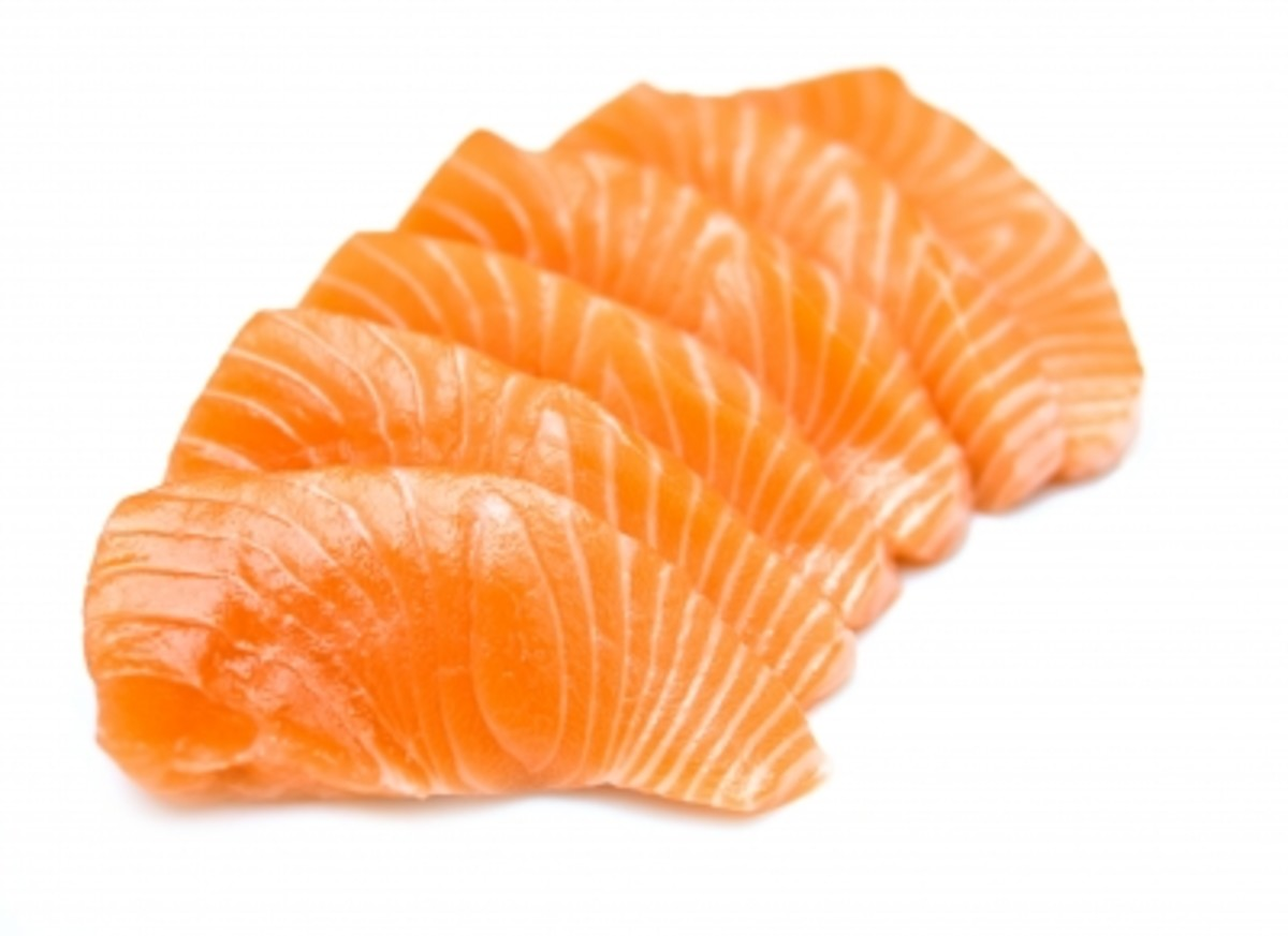Salmon is nutritious and delicious too! It's a lean protein with a good amount of Vitamin A, that's good for eye health!
