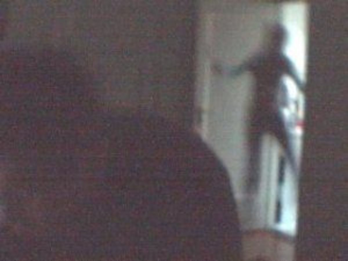 Real Shadow Person In Doorway