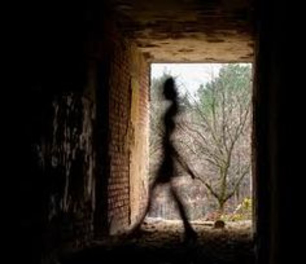 Shadow Person In Old Building
