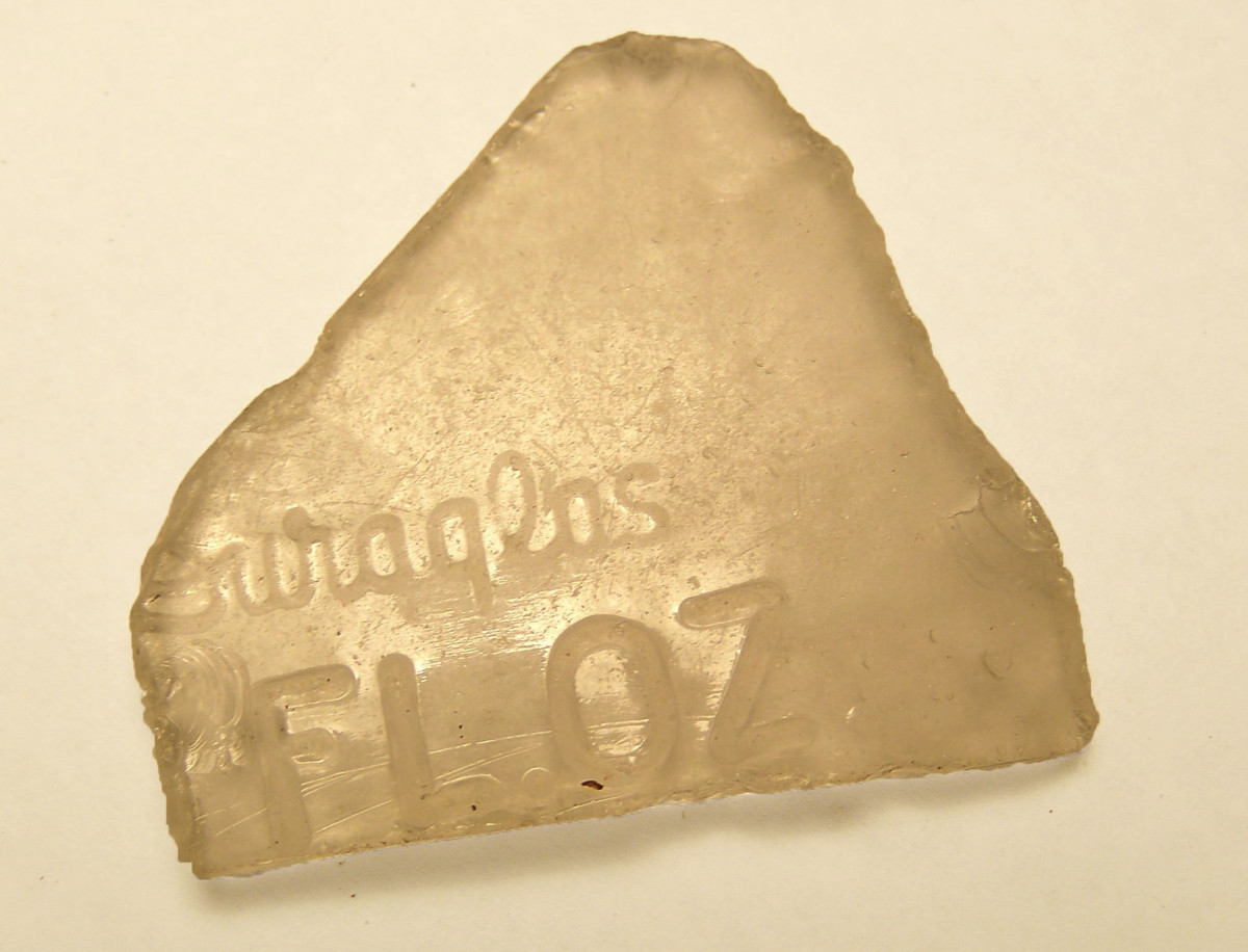 Exhibit A: Glass found on the creek from the Owens-Illinois Glass Co. dated 1940 to mid 1950's.