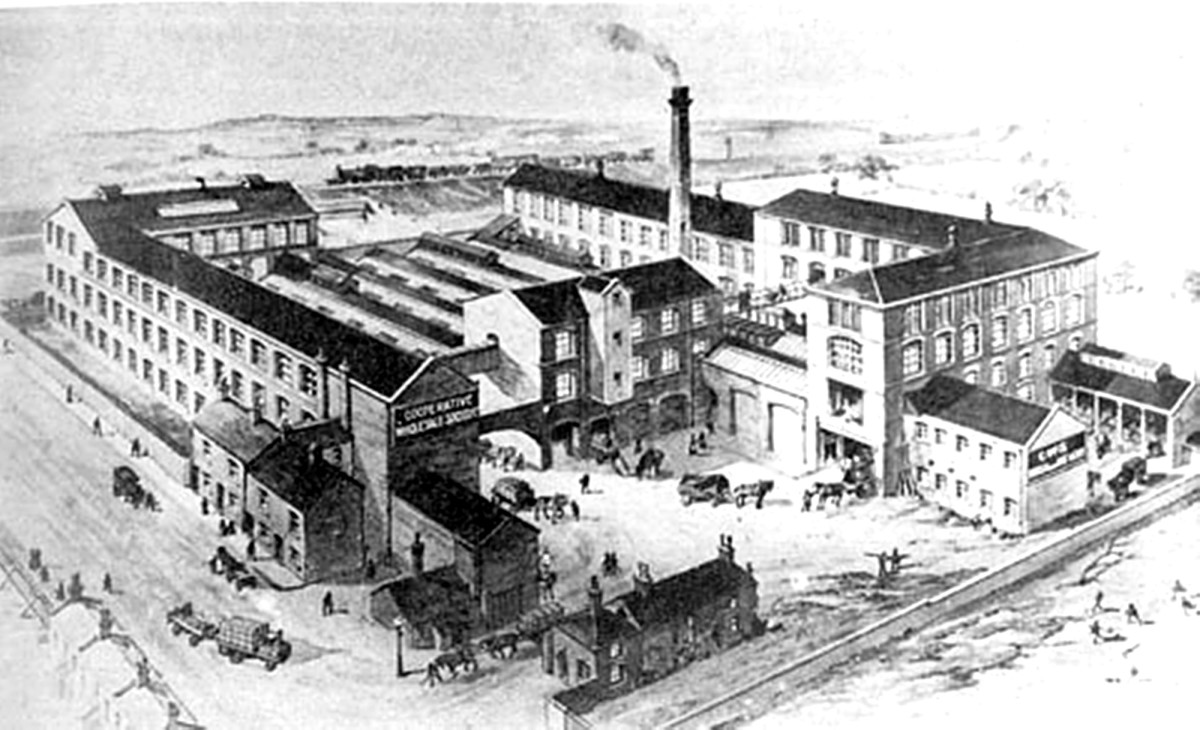The CWS (Co-operative Wholesale Society) brush factory on Balm Road, where my grandad's father worked