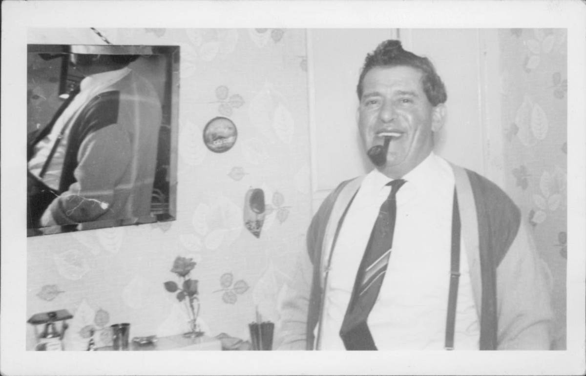 Grandad with his famous pipe - I always picture him smoking a pipe.