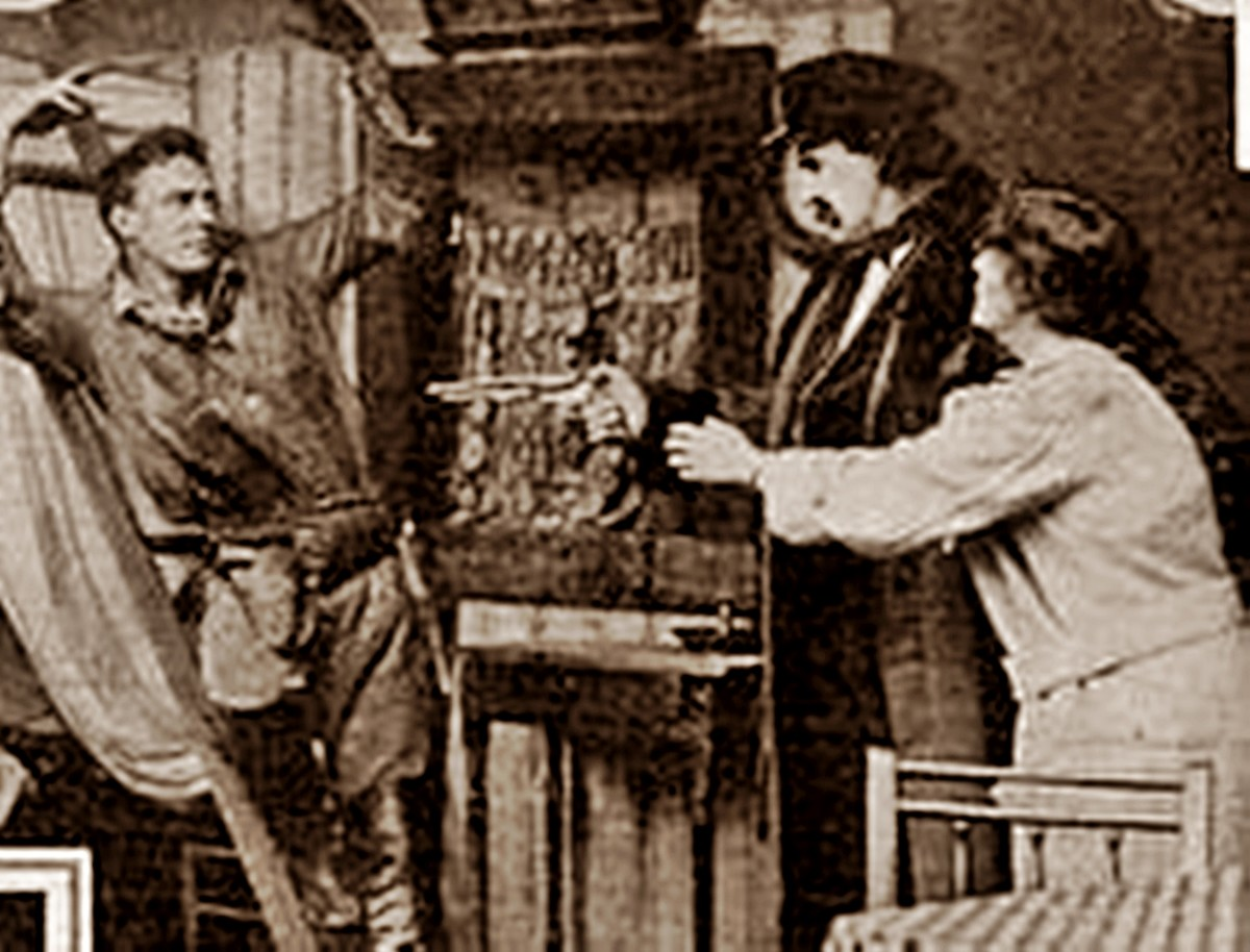 """A silent film from the era of my granddad's childhood: Cecil B DeMille's """"The Girl of the Golden West"""" (1915) which was an American Western movie."""