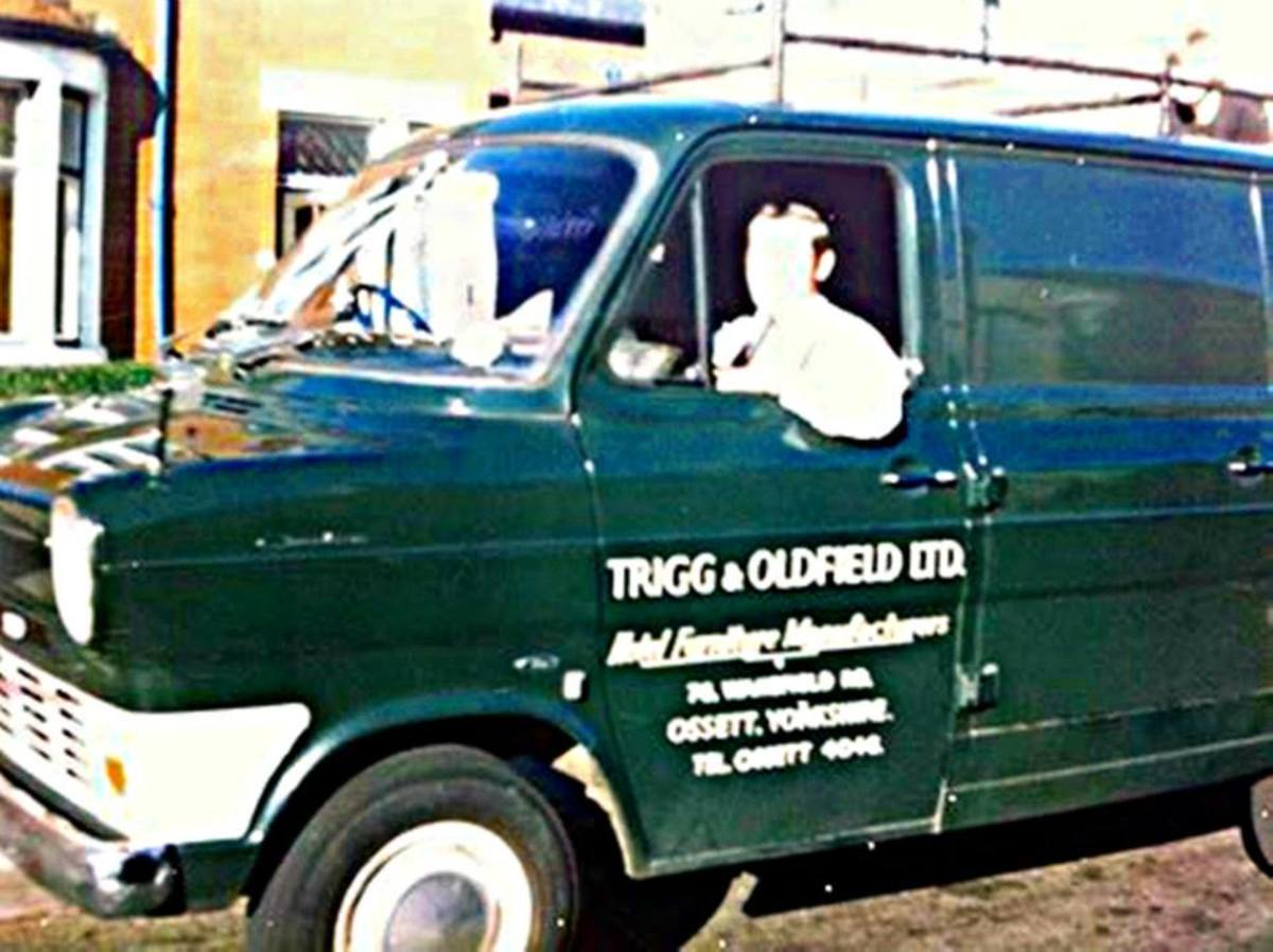 Grandad in his works van, which he used when he drove over to Blackpool to visit us when I was a kid.