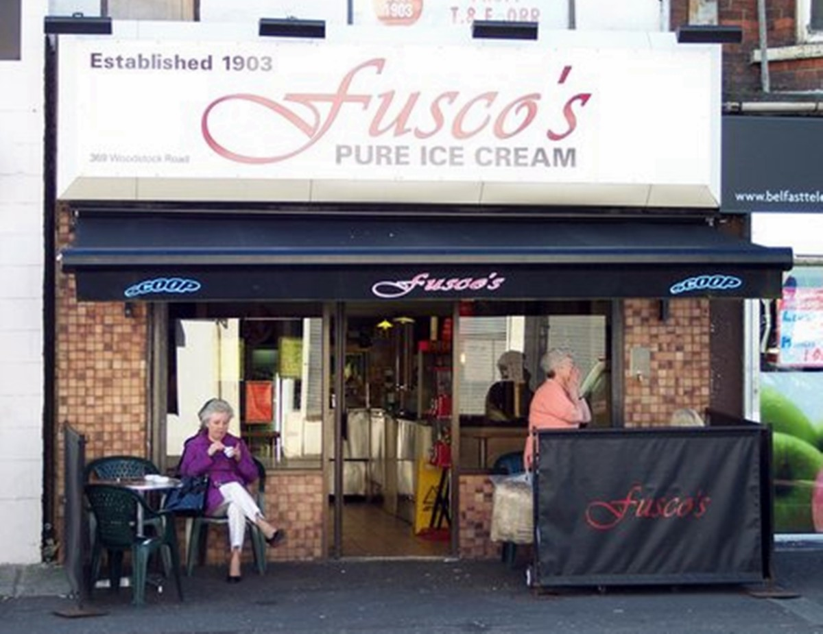 Fusco's Ice-Cream Parlour in Belfast in modern times.