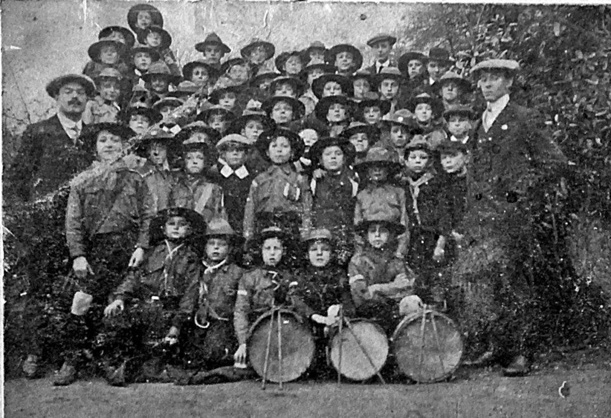The local Boys' Brigade, of which my grandad was a member, in the early 20th century. We don't know which one is grandad, unfortunately.