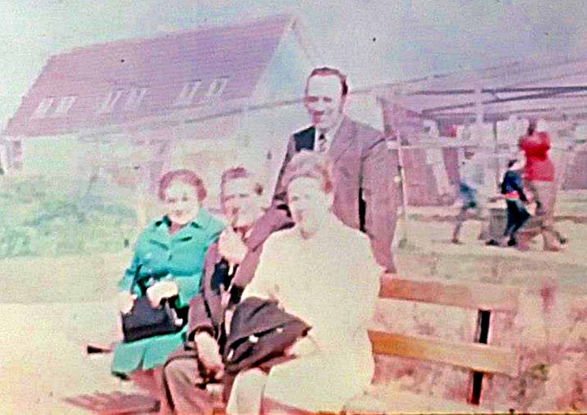 Grandma, grandad, mum and dad at Blackpool Zoo in the 1970s on a day out.