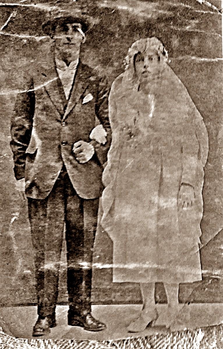 The wedding of grandad's older brother Arthur to Elsie
