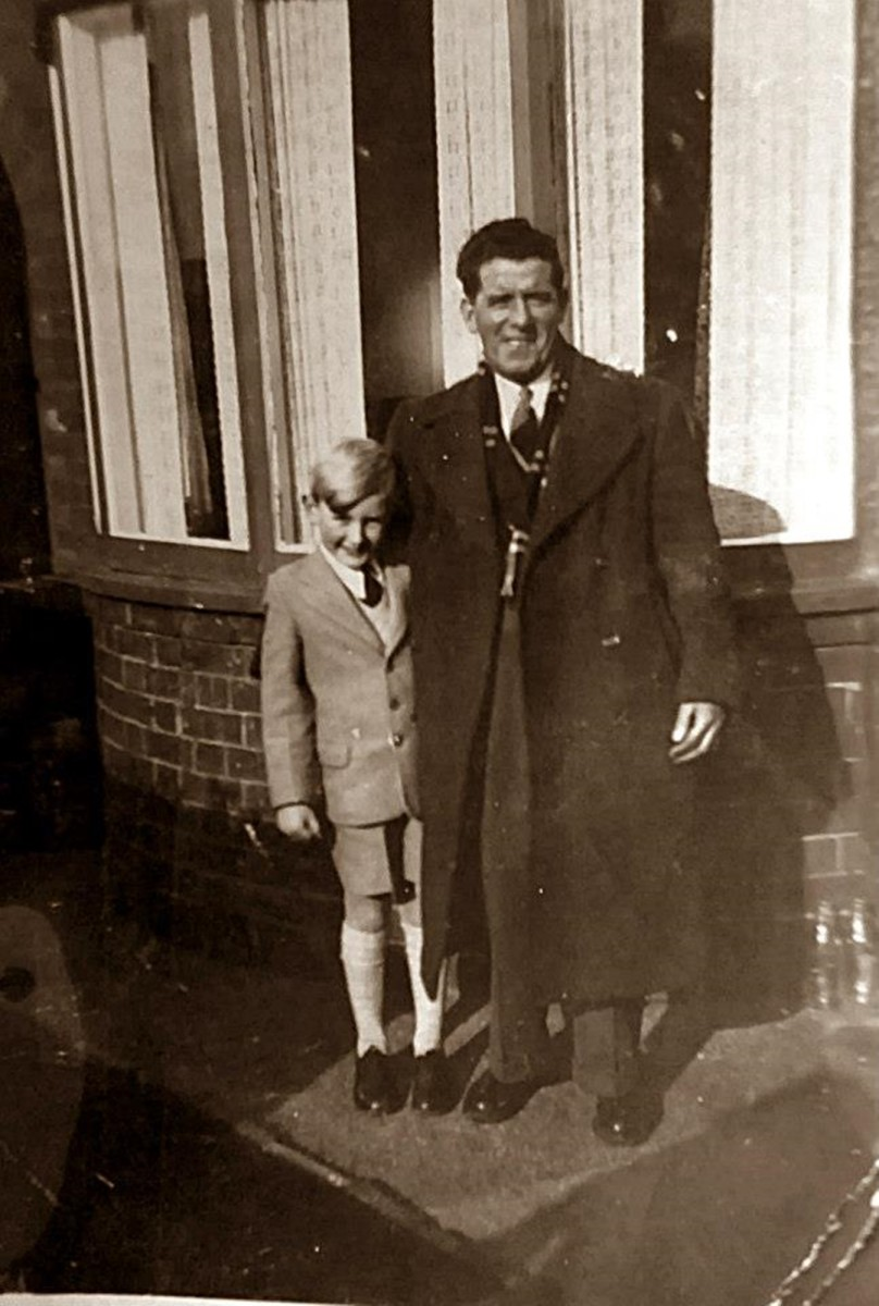 My grandad, Frank Trigg, pictured with my older brother, Eric, in the 1950s.