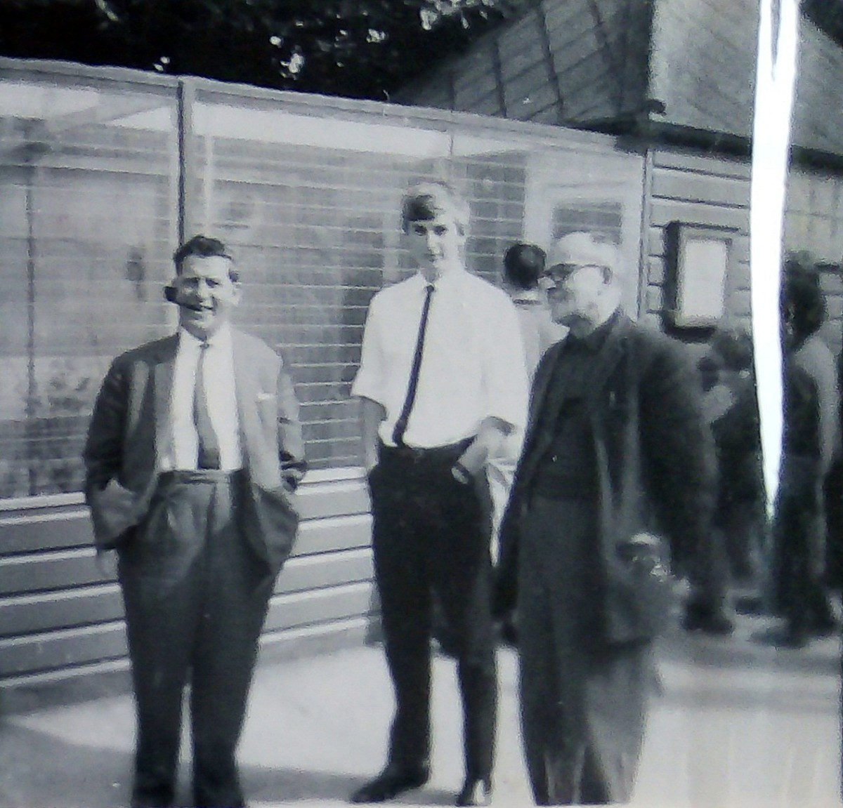 Grandad with his brother Fred and my brother Eric - looks like they are on a day out to the zoo.