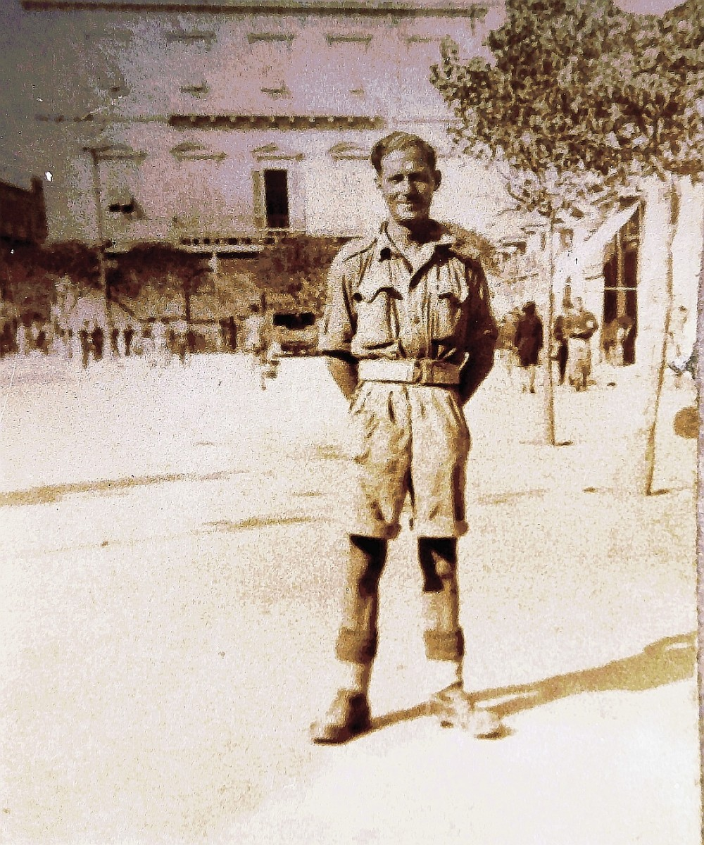 Granddad's brother Charlie during World War Two.
